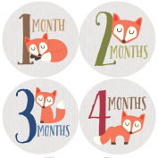 Fox Monthly Baby Stickers, Woodland, Baby Gift, Milestone Stickers, Baby Boy