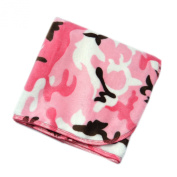 Pink Camo - 80cm X 80cm - Lil' Whippersnapper Brand Dual-Touch Plush Baby Blanket - Perfect for Swaddling, the Stroller, & Around the House