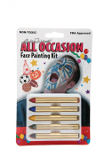 Bloody Mary 5-Stick All-Occasion Face Paint Crayons Kit