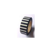 Love My Tapes Washi Tape 15mmX10m-Black & White Stripe