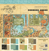 Graphic 45 Paper Pad 30cm x 30cm 24/Pkg-Artisan Style