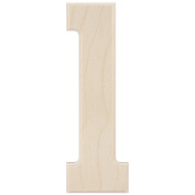 Baltic Birch University Font Letters & Numbers 13cm -Number 1