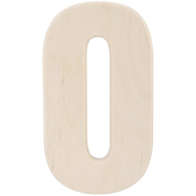 Baltic Birch University Font Letters & Numbers 13cm -Number 0