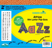 Barker Creek - Office Products 5.1cm Poster Letters & Bulletin Board Letter Pop-Outs, Africa