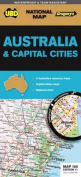 Australia & Capital Cities Map 180