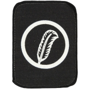 Led Zeppelin Men's Robert Plant Symbol Screen Printed Patch Black