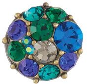 Ginger Snaps Petite Vintage Brooch AB Blue/Green Snap GP05-77