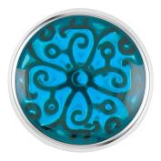 Ginger Snaps Petite Enamel Swirl Turquoise Snap GP05-14