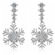 J Goodin Precious Womens Fashion Ornament Snowflake Drop Earrings