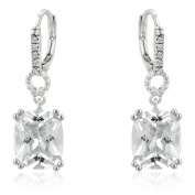 J Goodin Precious Womens Fashion Ornament Timeless Cushion Drop Earrings