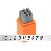 ImpressArt- Basic Bridgette Numbers Metal Stamp Set