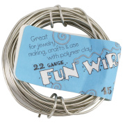Plastic Coated Fun Wire 22 Gauge 4.6m/Pkg-Icy Silver