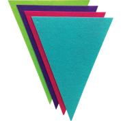 Felt Banners 8/Pkg-Triangles