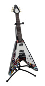 Flying V Electric Guitar Coin Bank Piggy Bank w/Stand