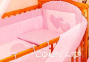 3pcs Bedding Set with ALL ROUND BUMPER to fit Cot Bed (140 x 70cm)100% COTTON!