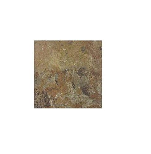 Rustic Slate Stone Self Stick Adhesive Vinyl Floor Tiles: Winton Tile 274932 Self Stick Vinyl Floor Tile, Earth