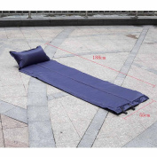 Ryask(TM) UK New Automatic Inflatable Sleeping Pad Moisture-proof Tent Mat with Pillow Cushion for Outdoor Camping CP Camouflage/Blue