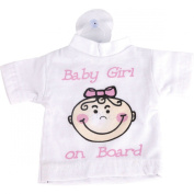Baby on Board Girl Mini T Shirt with Suction Cup