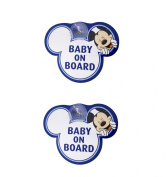 Disney Blue Mickey Mouse Baby On Board Car Signs - 2 Pack
