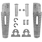 Tengchang Silver Motorcycles Footrests Foot Pegs For Suzuki GSXR 600 750 2006 07 08 09 10 11 12 13 2014 GSXR1000 2005-2014 B-KING 2008-2013