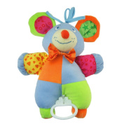 Baby Kids Mechanical Pull Bell Cartoon Music Toys Animal Musical Rope Plush Toys - Mouse