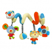 Baby Kids Bear Decorative Toys with Teethers Lathe Strap Toys For Beds