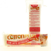 Cotton Plus Mini Cotton Pads with Solution, 2In1, Pack of 80, Argan Oil