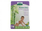 Bamboo Baby Nappies, Size 3, 13-24 lbs (6-11 kg) - Aleva Naturals - Qty 1