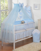 Cot Fly Child Large Sky Blue with Hearts