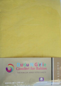 Dudu N Girlie Travel Cot Cotton Jersey Fitted Sheet, 65 x 95 cm, Single Pack
