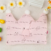 PANNIUZHE Lovely baby Crown Pillow Cotton Infant Anti Roll Positioner Pillow Prevent Flat Head pillow For use in 3 months to 3 years old baby