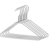 200 MM Silver Wire Hangers Set thickness