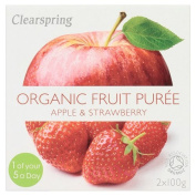 Clearspring Organic Apple and Strawberry Puree, 200 g