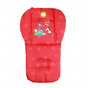 Demiawaking Baby Giraffe Stroller Cushion Child Cart Seat Cushion Pushchair Cotton Cushion Cotton Thick Mat Red