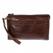 Christian Wippermann® Men's Organiser Clutch Black BROWN 21 x 13,5 x 5 cm