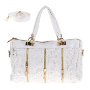 jinyouju Women Messenger Bag Lace Satchel Tote Shoulder Bag Handbag Purse