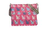 Womens Ladies Canvas Cats Print Cross Body Messenger Bag Women Shoulder Tote Handbag
