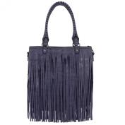 Womens Fringe Tassel Handbag Faux Leather Celebrity Tote Ladies Shoulder Bag