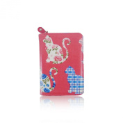 Ladies Faux Leather Cat Zip Small Coin Purse Womens Wallet Card Holder