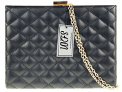 UKFS Ladies Elegant Bianca Rigid Quilted Box Evening Clutch Bag