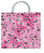 One Medium Chic Pink Gift Bag With Gift Tag