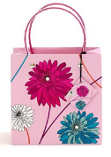 One Medium Dahlia Vibrant Gift Bag With Gift Tag