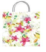 One Medium Paradise White Gift Bag With Gift Tag
