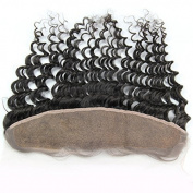 Sunny 4*33cm Deep Wave Ear to Ear Lace Frontal 100% Unprocessed Brazilian Virgin Human Hair Lace Closure with Baby Hair 25cm