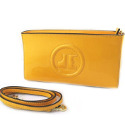 Leather bag 'Jacques Esterel'yellow varnish.