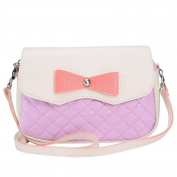 Lovely Candy Colour Diamond Pattern with Bows Mini Handbag Phone Bags