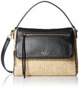 kate spade new york Cobble Hill Straw Small Toddy Crossbody Natural/Black