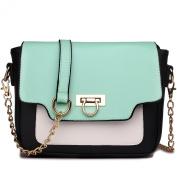 Miss Lulu Leather Style Horseshoe Clasp Cross Body Satchel Handbag