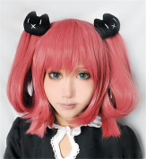 LanTing Love Chunibyo & Other Delusions Shichimiya Satone RED Cosplay Party Fashion Anime Wig