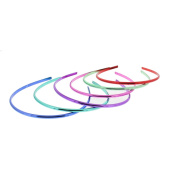 Zac's Alter Ego® Pack of 6 Assorted Colour Metallic Finish 5mm Thin Alicebands